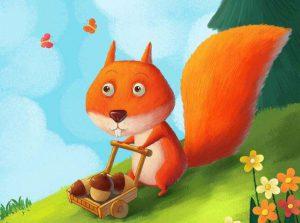 小松鼠的童话故事
