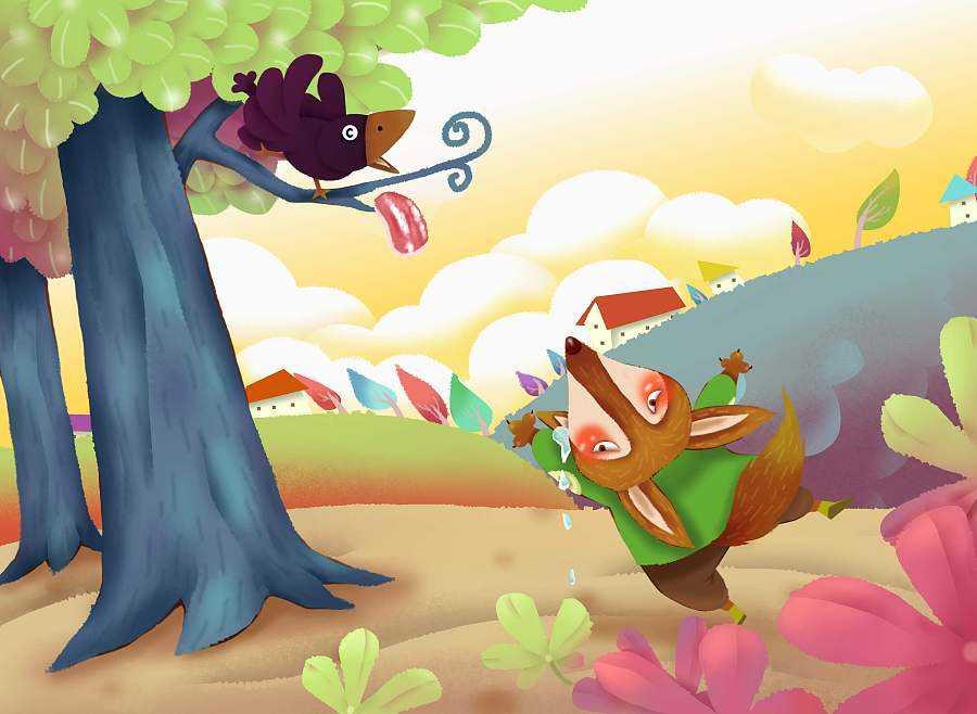 乌鸦和狐狸的故事