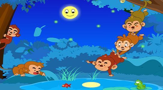 猴子捞月亮的故事